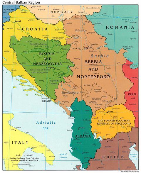 Les Balkans Carte Géographique | tonaartsenfotografie