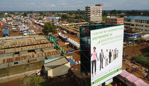 An aerial view of Busia, Kenya