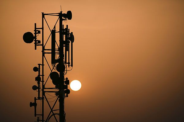 A cell tower in India
