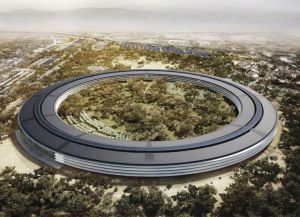 An artist's rendering of Apple's planned campus in Cupertino (Source: sfgate.com)