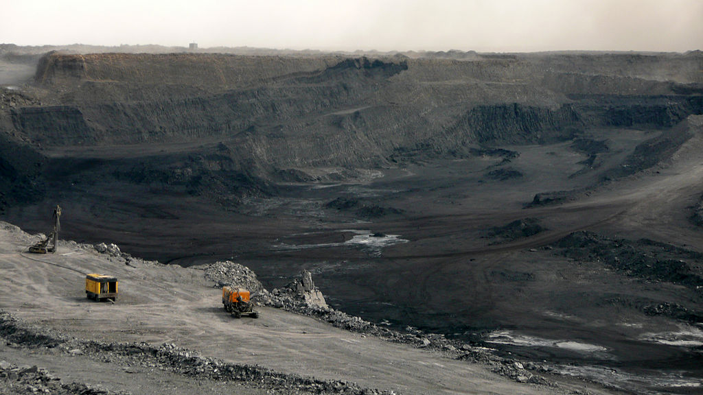 The Tavan Tolgoi coal mine in Mongolia. Mongolia exports most of its coal to China.