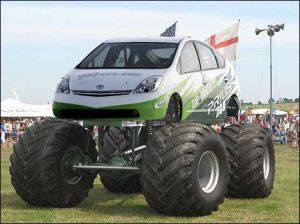 Is this Monster Prius photoshopped?