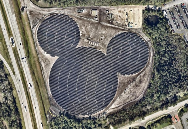 Mickey Mouse shaped solar farm in Orlando, FL