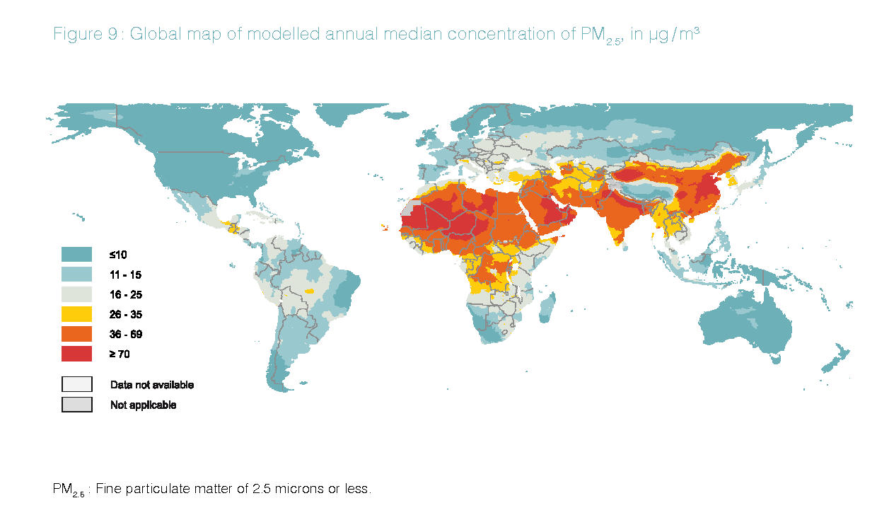 2017 map of air pollution in us