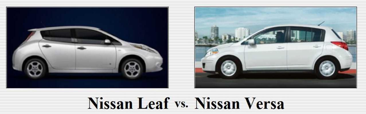 NissanLeafvVersa